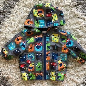 Boys Gymboree Raincoat Monsters